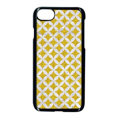 Circles3 White Marble & Yellow Denim Apple Iphone 8 Seamless Case (black) by trendistuff