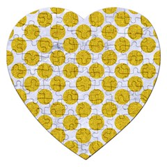 Circles2 White Marble & Yellow Denim (r) Jigsaw Puzzle (heart) by trendistuff