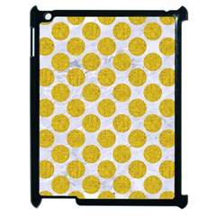 Circles2 White Marble & Yellow Denim (r) Apple Ipad 2 Case (black) by trendistuff