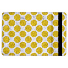 Circles2 White Marble & Yellow Denim (r) Ipad Air 2 Flip by trendistuff