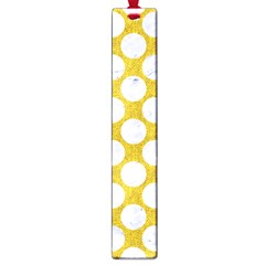Circles2 White Marble & Yellow Denim Large Book Marks