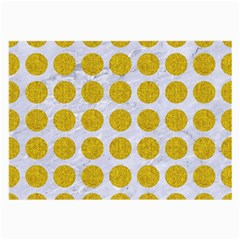 Circles1 White Marble & Yellow Denim (r) Large Glasses Cloth by trendistuff
