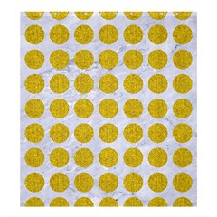 Circles1 White Marble & Yellow Denim (r) Shower Curtain 66  X 72  (large)