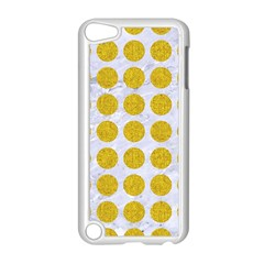 Circles1 White Marble & Yellow Denim (r) Apple Ipod Touch 5 Case (white) by trendistuff