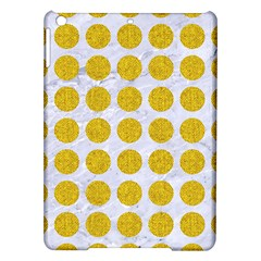 Circles1 White Marble & Yellow Denim (r) Ipad Air Hardshell Cases by trendistuff
