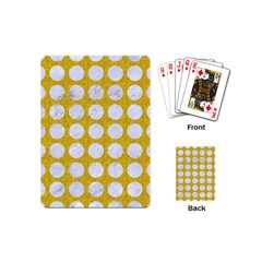 Circles1 White Marble & Yellow Denimcircles1 White Marble & Yellow Denim Playing Cards (mini)  by trendistuff