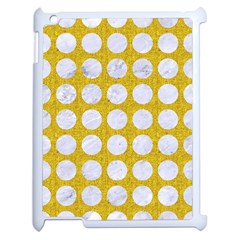 Circles1 White Marble & Yellow Denimcircles1 White Marble & Yellow Denim Apple Ipad 2 Case (white) by trendistuff