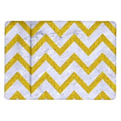 Chevron9 White Marble & Yellow Denim (r) Samsung Galaxy Tab 10 1  P7500 Flip Case by trendistuff