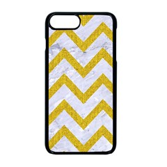 Chevron9 White Marble & Yellow Denim (r) Apple Iphone 8 Plus Seamless Case (black) by trendistuff