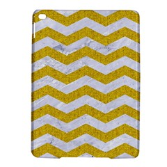 Chevron3 White Marble & Yellow Denim Ipad Air 2 Hardshell Cases by trendistuff
