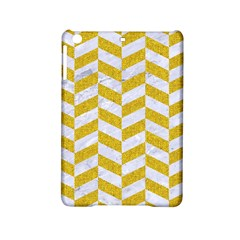 Chevron1 White Marble & Yellow Denim Ipad Mini 2 Hardshell Cases by trendistuff