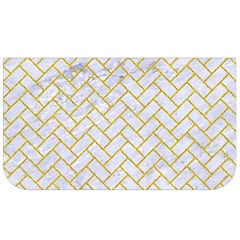 Brick2 White Marble & Yellow Denim (r) Lunch Bag