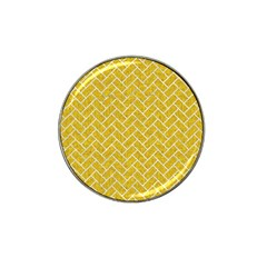 Brick2 White Marble & Yellow Denim Hat Clip Ball Marker (10 Pack) by trendistuff