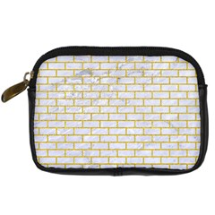 Brick1 White Marble & Yellow Denim (r) Digital Camera Cases by trendistuff