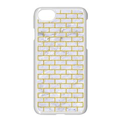 Brick1 White Marble & Yellow Denim (r) Apple Iphone 7 Seamless Case (white) by trendistuff