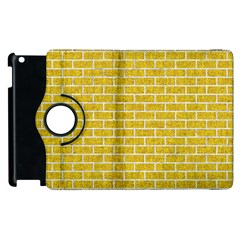 Brick1 White Marble & Yellow Denim Apple Ipad 3/4 Flip 360 Case by trendistuff