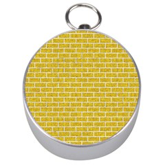 Brick1 White Marble & Yellow Denim Silver Compasses by trendistuff