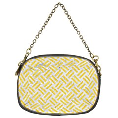 Woven2 White Marble & Yellow Colored Pencil (r) Chain Purses (two Sides)  by trendistuff