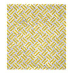 Woven2 White Marble & Yellow Colored Pencil (r) Shower Curtain 66  X 72  (large)  by trendistuff