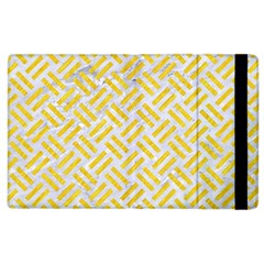 Woven2 White Marble & Yellow Colored Pencil (r) Apple Ipad 3/4 Flip Case by trendistuff