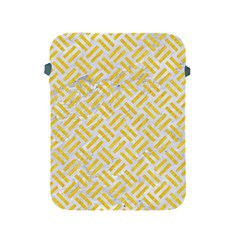 Woven2 White Marble & Yellow Colored Pencil (r) Apple Ipad 2/3/4 Protective Soft Cases by trendistuff