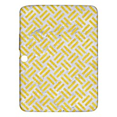 Woven2 White Marble & Yellow Colored Pencil (r) Samsung Galaxy Tab 3 (10 1 ) P5200 Hardshell Case  by trendistuff