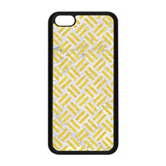 Woven2 White Marble & Yellow Colored Pencil (r) Apple Iphone 5c Seamless Case (black)