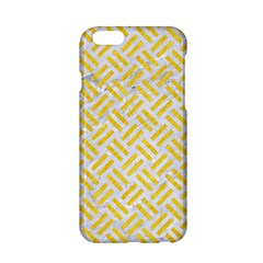 Woven2 White Marble & Yellow Colored Pencil (r) Apple Iphone 6/6s Hardshell Case by trendistuff