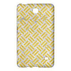 Woven2 White Marble & Yellow Colored Pencil (r) Samsung Galaxy Tab 4 (8 ) Hardshell Case  by trendistuff