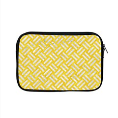 Woven2 White Marble & Yellow Colored Pencil Apple Macbook Pro 15  Zipper Case by trendistuff