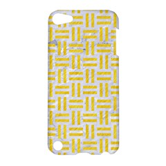Woven1 White Marble & Yellow Colored Pencil (r) Apple Ipod Touch 5 Hardshell Case by trendistuff