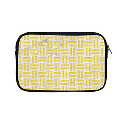 Woven1 White Marble & Yellow Colored Pencil (r) Apple Macbook Pro 13  Zipper Case by trendistuff