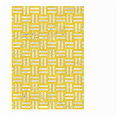 Woven1 White Marble & Yellow Colored Pencil Large Garden Flag (two Sides) by trendistuff