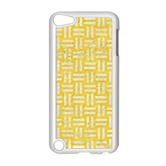 Woven1 White Marble & Yellow Colored Pencil Apple Ipod Touch 5 Case (white) by trendistuff
