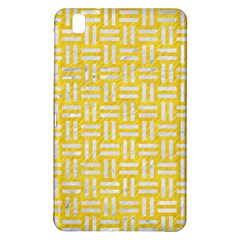 Woven1 White Marble & Yellow Colored Pencil Samsung Galaxy Tab Pro 8 4 Hardshell Case by trendistuff