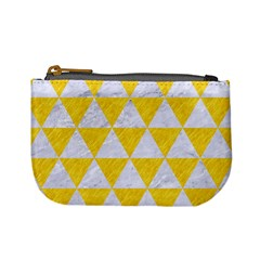 Triangle3 White Marble & Yellow Colored Pencil Mini Coin Purses by trendistuff