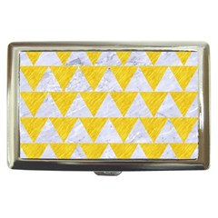 Triangle2 White Marble & Yellow Colored Pencil Cigarette Money Cases by trendistuff