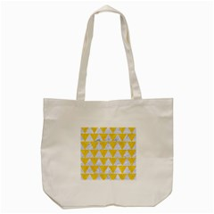 Triangle2 White Marble & Yellow Colored Pencil Tote Bag (cream) by trendistuff