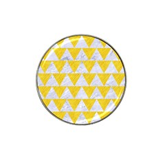 Triangle2 White Marble & Yellow Colored Pencil Hat Clip Ball Marker by trendistuff
