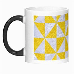 Triangle1 White Marble & Yellow Colored Pencil Morph Mugs by trendistuff