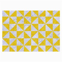 Triangle1 White Marble & Yellow Colored Pencil Large Glasses Cloth by trendistuff