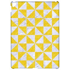 Triangle1 White Marble & Yellow Colored Pencil Apple Ipad Pro 12 9   Hardshell Case by trendistuff