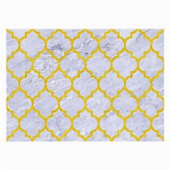 Tile1 White Marble & Yellow Colored Pencil (r) Large Glasses Cloth by trendistuff