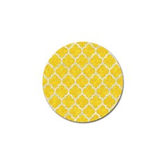 Tile1 White Marble & Yellow Colored Pencil Golf Ball Marker (10 Pack) by trendistuff