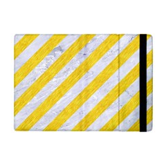 Stripes3 White Marble & Yellow Colored Pencil (r) Ipad Mini 2 Flip Cases by trendistuff