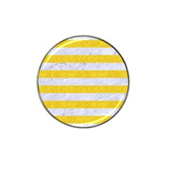 Stripes2white Marble & Yellow Colored Pencil Hat Clip Ball Marker by trendistuff