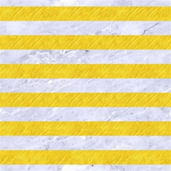 Stripes2white Marble & Yellow Colored Pencil Magic Photo Cubes by trendistuff