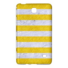 Stripes2white Marble & Yellow Colored Pencil Samsung Galaxy Tab 4 (8 ) Hardshell Case  by trendistuff