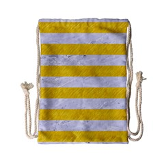Stripes2white Marble & Yellow Colored Pencil Drawstring Bag (small) by trendistuff
