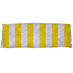 Stripes1 White Marble & Yellow Colored Pencil Body Pillow Case Dakimakura (two Sides) by trendistuff